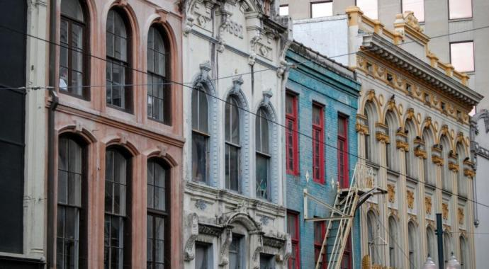 Row of houses in New Orleans